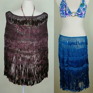 Other - Bathing Suit Cover Up Womens Brown Handmade